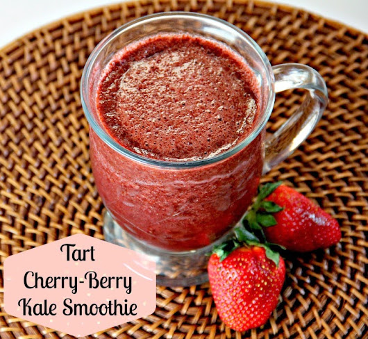 Tart Cherry-Berry Kale Smoothie