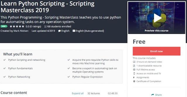 [100% Free] Learn Python Scripting - Scripting Masterclass 2019