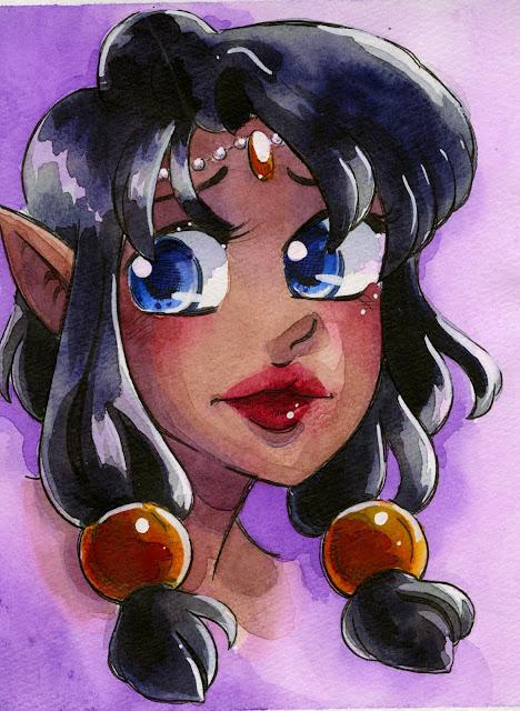 elf, watercolor, fantasy