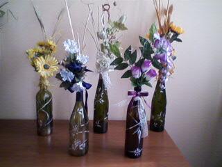 Dal niente a tutto il vetro riciclo creativo - Bottiglie vetro decorate ...