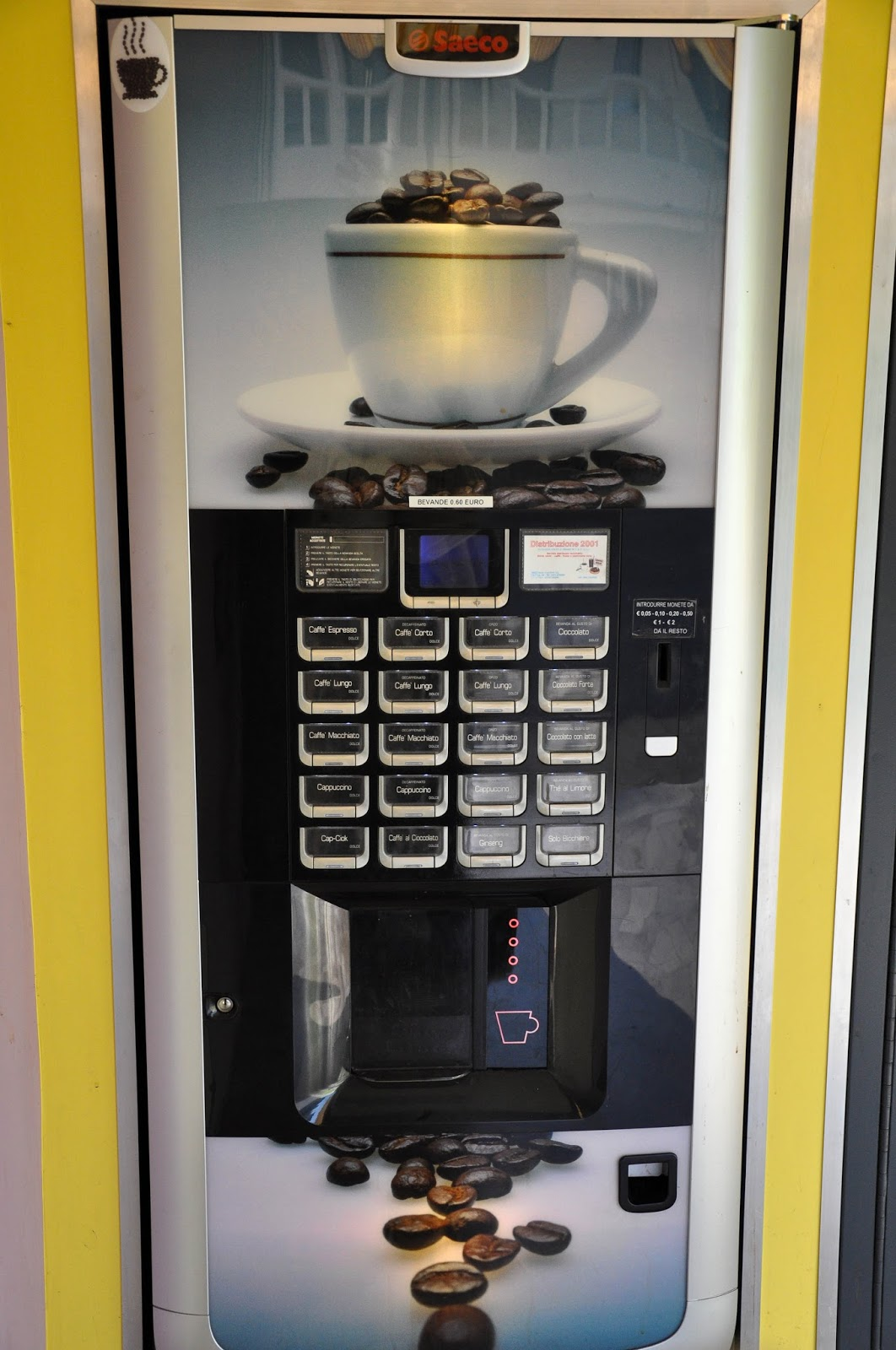 Coffee vending machine, Vicenza, Veneto, Italy