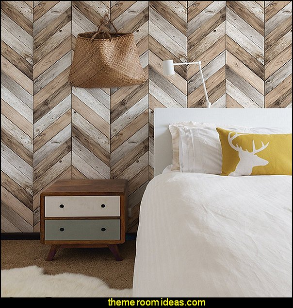 Chevron Wood Wallpaper  zig zag bedroom decorating ideas - Zig Zag wall decals - Chevron bedroom decorating ideas - zig zag wallpaper mural - zig zag decor - Chevron ZIG ZAG print - Herringbone Stencil - chevron bedding - zig zag rugs -