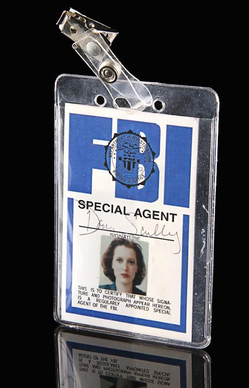 X-Files Dana Scully FBI photo ID prop