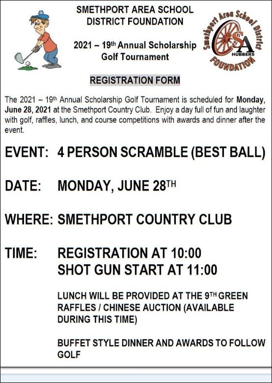 6-28 Scholarship Golf Tournament, Smethport, PA