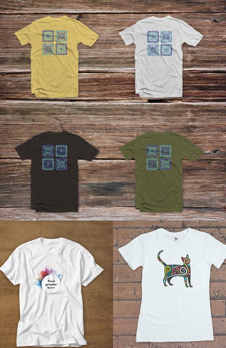 PSD T shirt Design Mockup