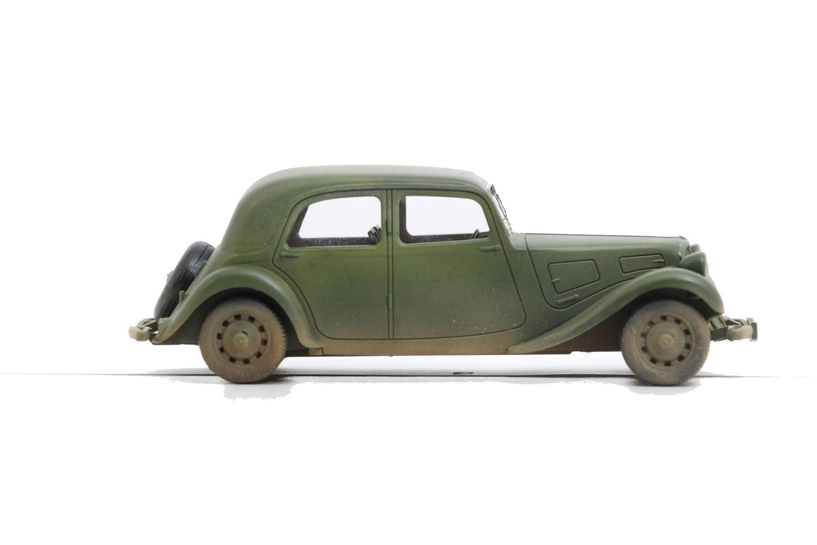 maquette de la traction 11 cv de tamiya au 1  48