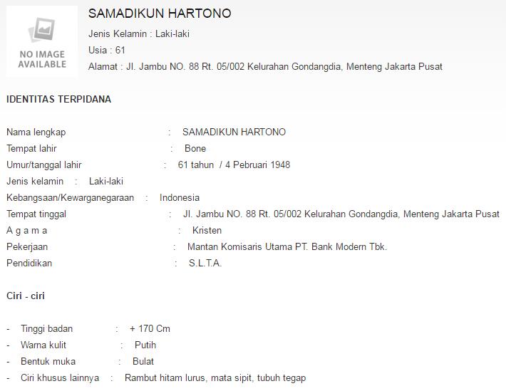 biodata Samadikun Hartono