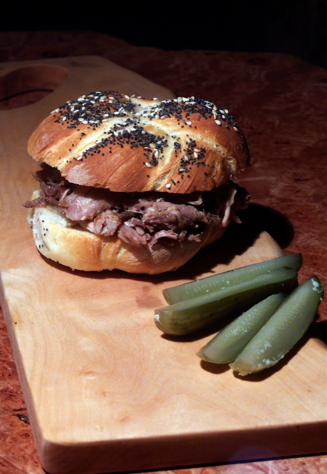 Thibeault S Table Pulled Pork On Homemade Kaiser Rolls