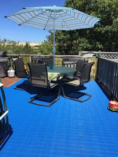 Greatmats blue patio tiles