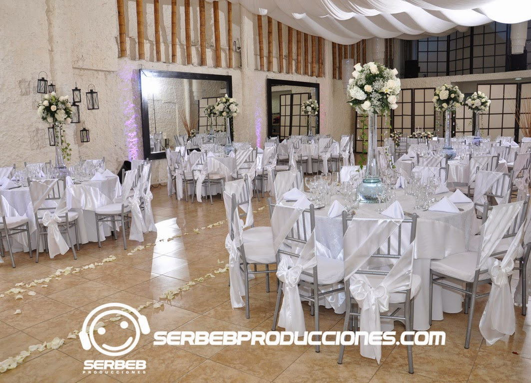 Decoracion Cortinas Salon 2015 Organización De Bodas Decoración Boda Tiffany En Blanco