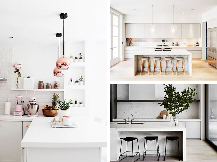 pedra branca na cozinha
