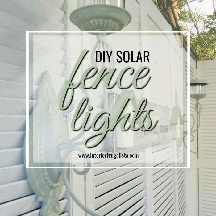 Solar Fence Lights Repurposed Candle Sconces