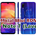 √ Official Stock MIUI ROM Redmi Note 7 (lavender) All Version