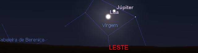Lua e Jupiter - 10 de abril