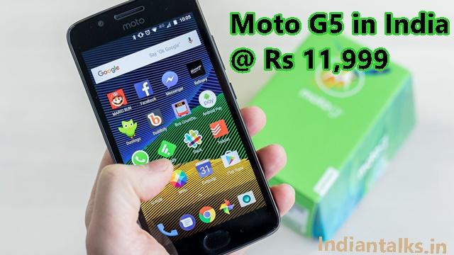 Moto G5 in India