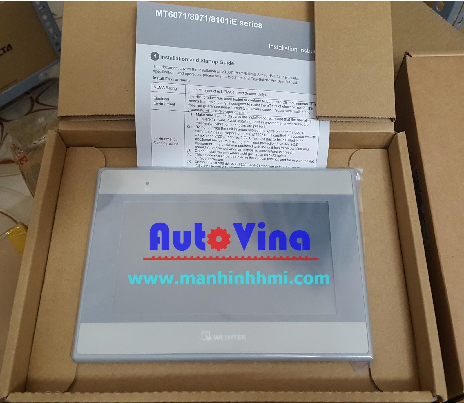 Đại lý bán màn hình cảm ứng HMI Weintek 7 inch MT8071iE tích hợp Ethernet kết nối PLC Siemens S7-1200