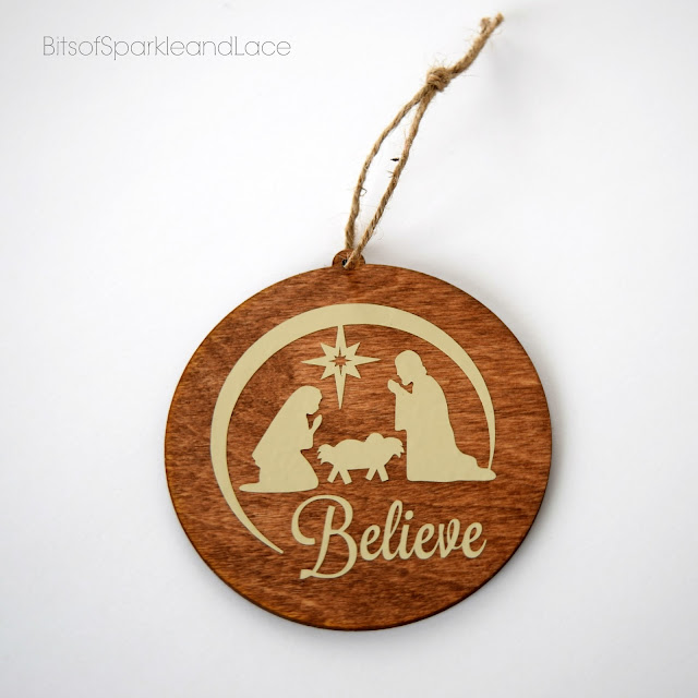 Wooden Navity Ornament