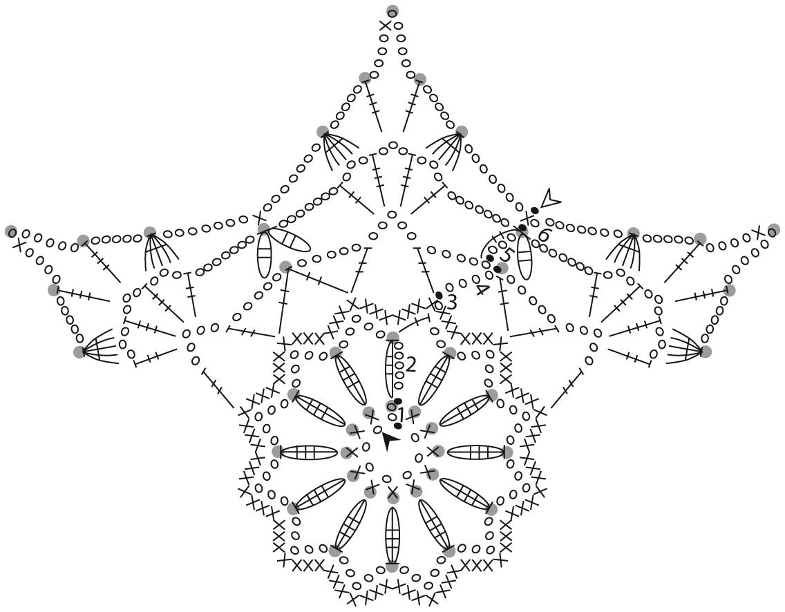 spesso Schemi fiocchi di neve ad uncinetto YB67