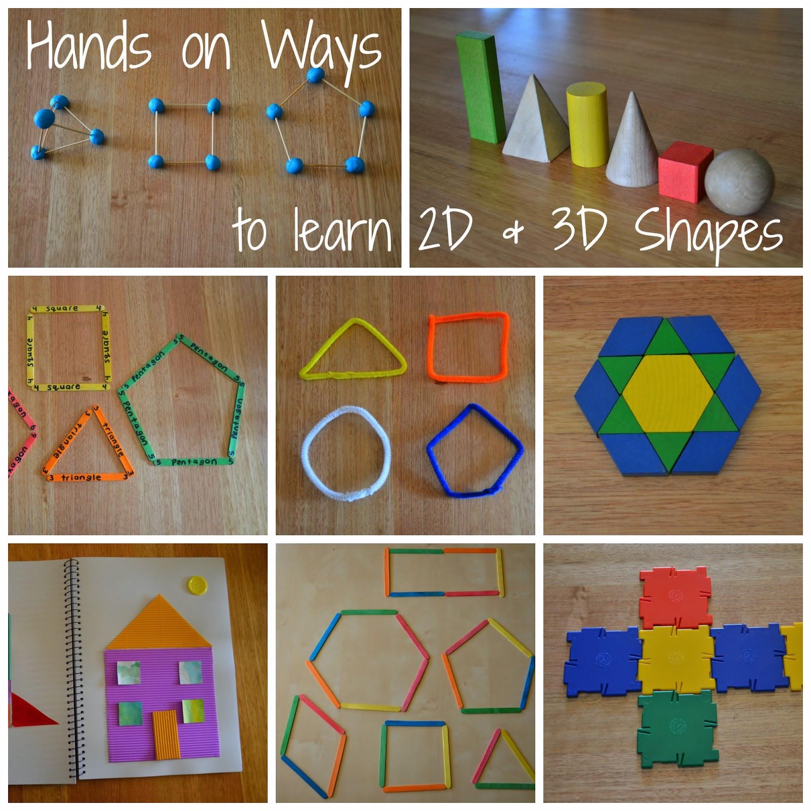 Learning 2d Amp 3d Shape Childhood 101 Guest Post