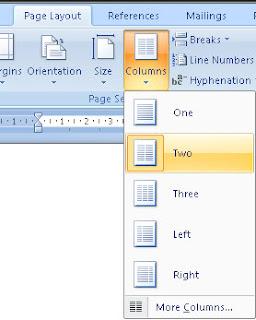 Cara Membagi 4 Halaman Dalam 1 Kertas Pada Microsoft Word