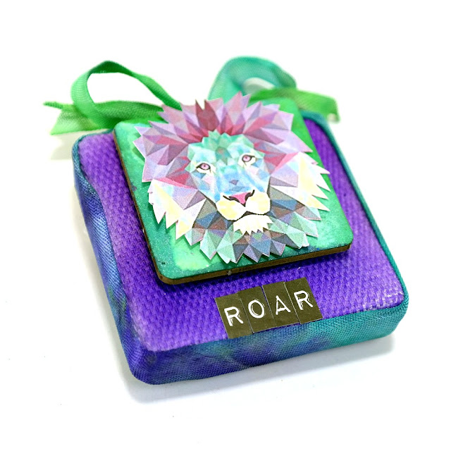 Watercolor Roar Lion Mini Canvas by Dana Tatar for Tando Creative