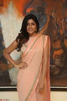 Eesha Rebba in beautiful peach saree at Darshakudu pre release ~  Exclusive Celebrities Galleries 064.JPG