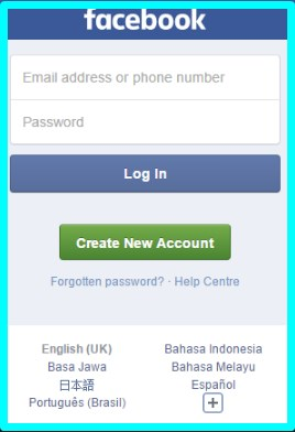 facebook old version login