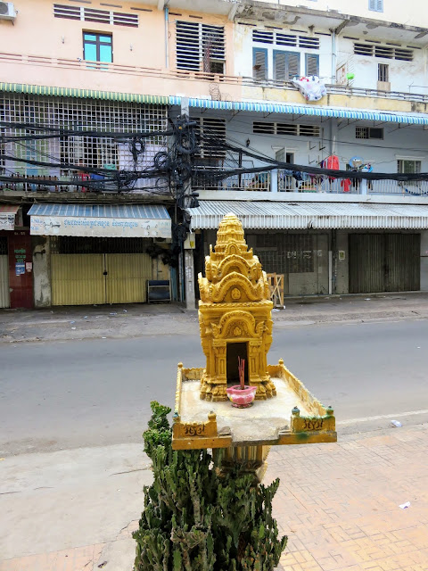 Spirit house in Phnom Penh Cambodia