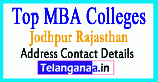 Top MBA Colleges in Jodhpur Rajasthan