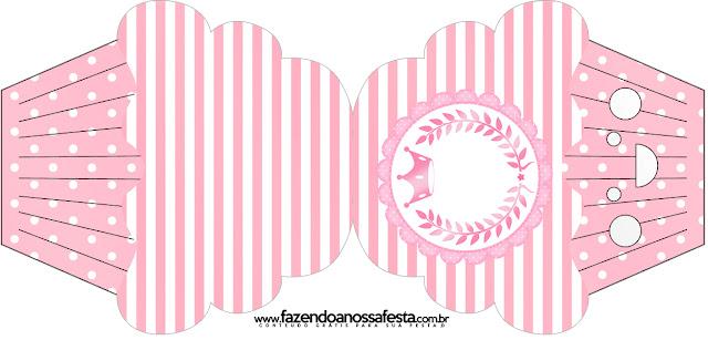 Tarjeta con forma de cupcake de Corona Rosada.