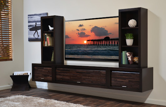 Floating TV Cabinet Design for Modern House