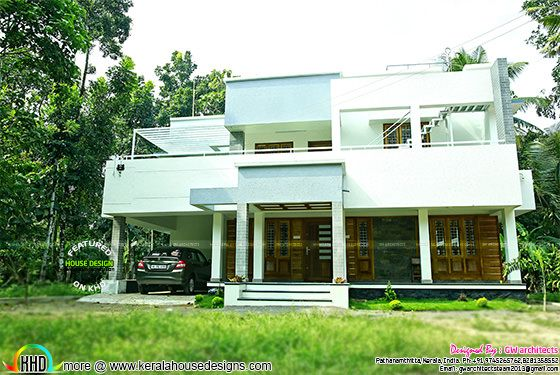 Modern home in Kerala work completed