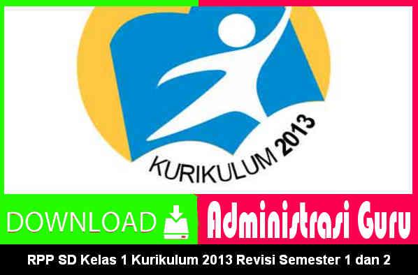 Download RPP SD Kelas 1 Kurikulum 2013 Revisi Semester 1 dan 2 Lengkap