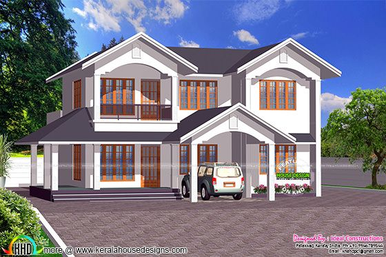 Typical 4 bedroom 2300 sq-ft Kerala home