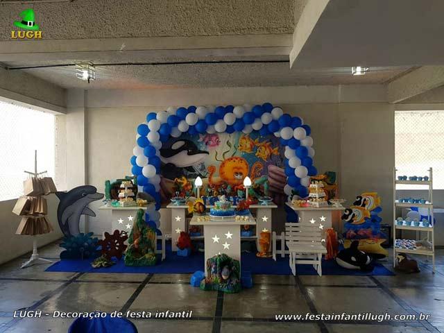 Decoração Fundo do Mar, aniversário infantil, Barra - RJ