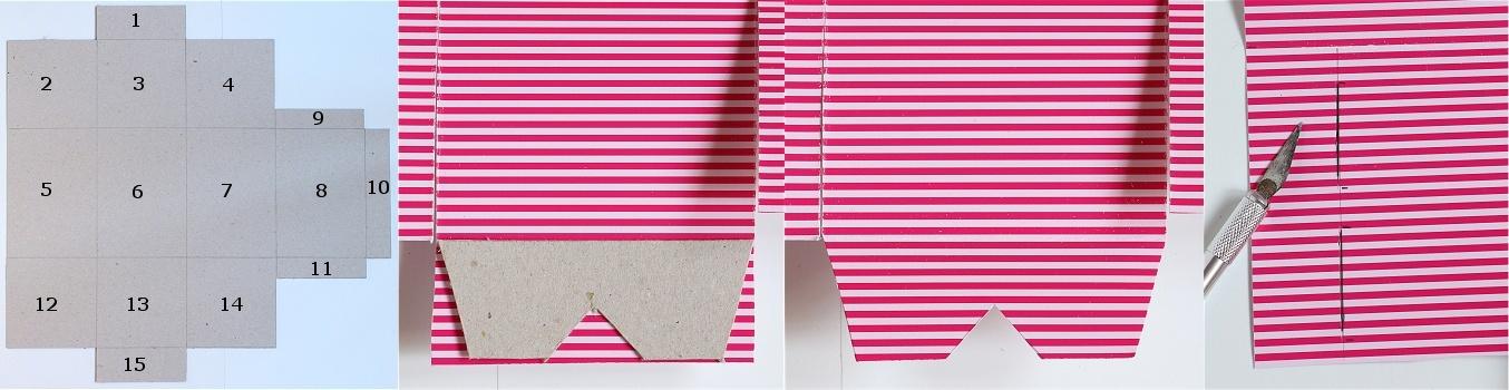 DIY/Tutorial Cupcake-Geschenkbox - Cupcake-Geschenkschachtel Anleitung 5