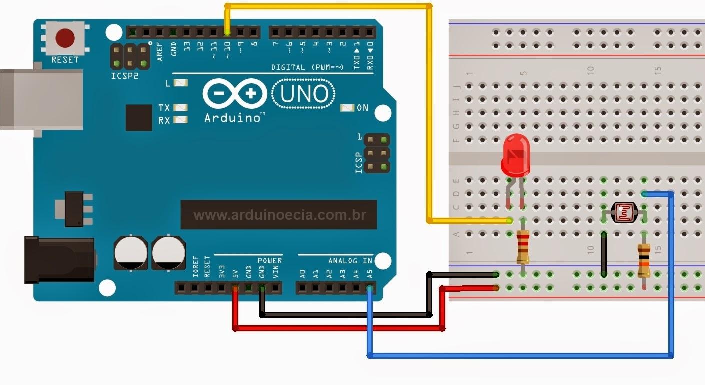 Circuito LDR Led - Arduino Uno