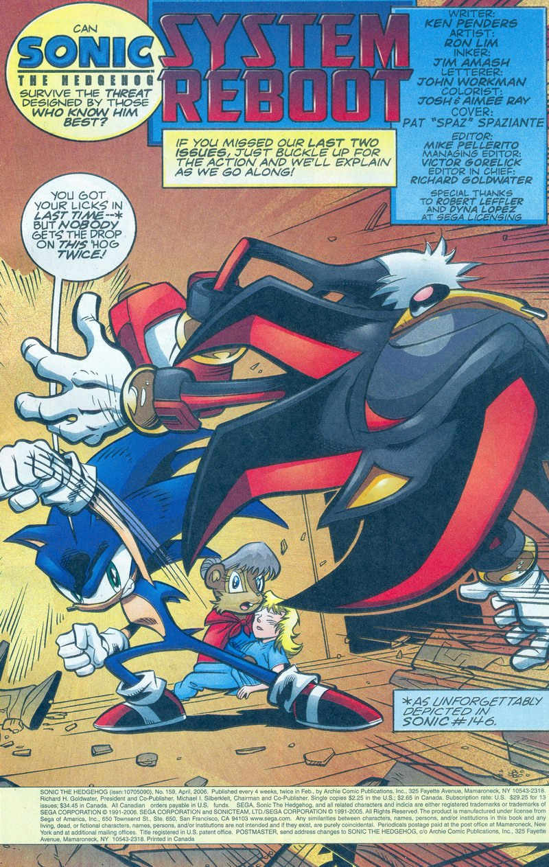 Read online Sonic The Hedgehog comic -  Issue #159 - 2