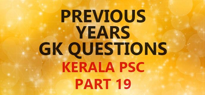 PSC Previous GK Question Bank Part 19