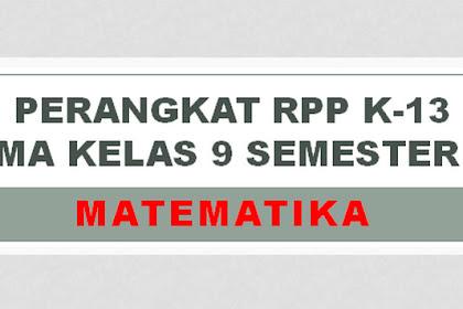 PERANGKAT RPP K-13 SMA MATEMATIKA KELAS 9 SEMESTER 2