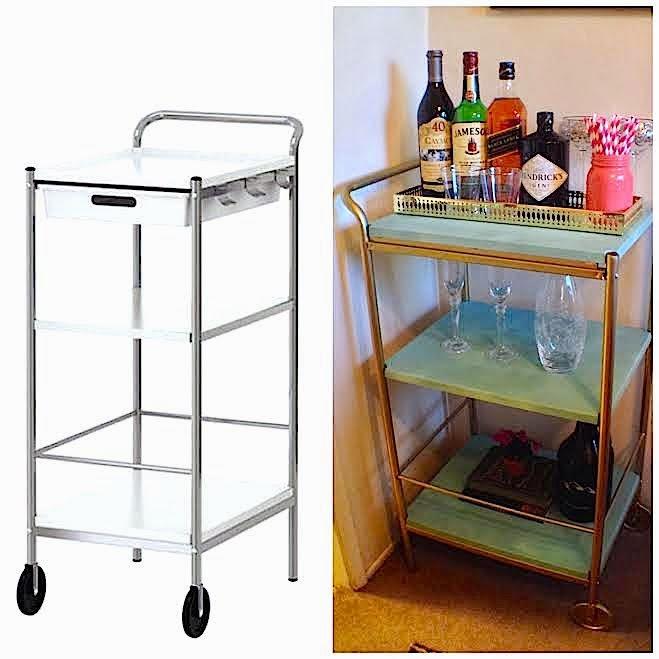 Ikea Bygel Kitchen Utility Cart Island Organizer