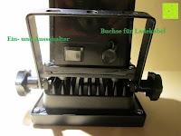 Schalter: as - Schwabe Chip-LED-Akku-Strahler 10 W, geeignet für Außenbereich, Gewerbe, blau, 46971