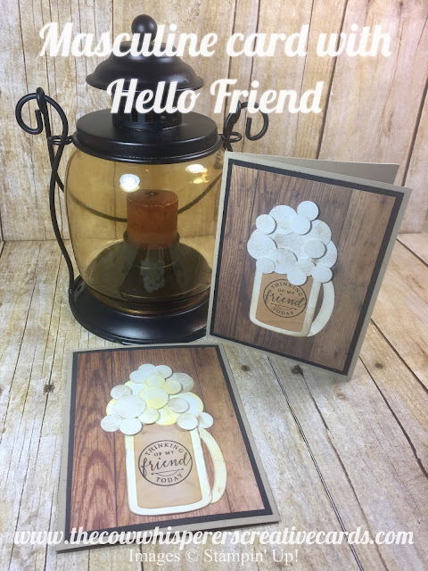 Masculine, Card, Hello Friends, Wood Textures, Every Day Jar, Fun, Manly
