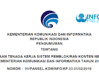 Rekrutmen Pegawai Kementerian Komunikasi dan Informatika tahun 2018