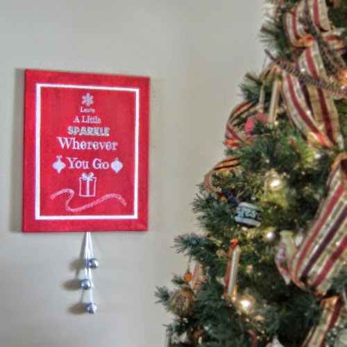 DIY Bring A Little Sparkle Holiday Canvas plus Printable