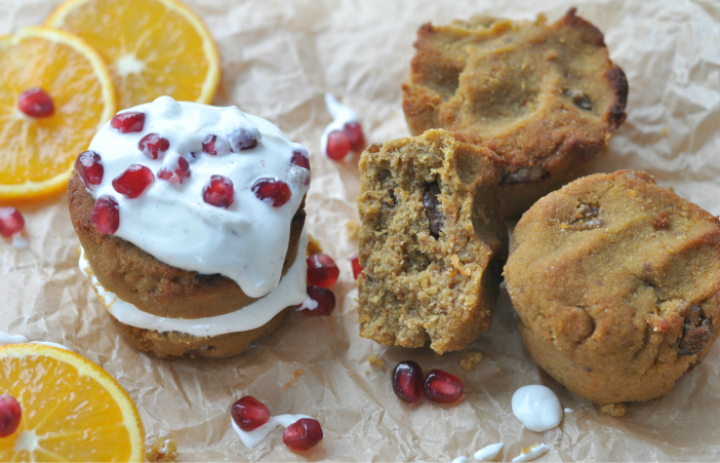 glutenfree Orange-Carrot-Cake Muffins, extra moist and chewy