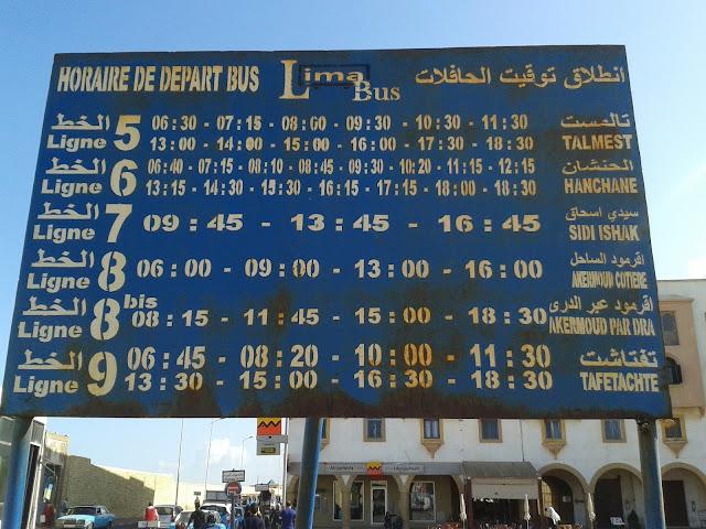 Bus pour le nord d'Essaouira