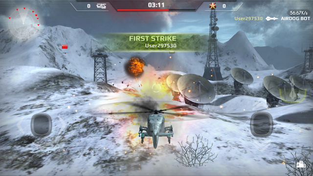 Copmpete the most action packed multiplayer airborne battle with easy controls & awesome dog-fighting action. Lock on your missile & unleash hell on your opponents.