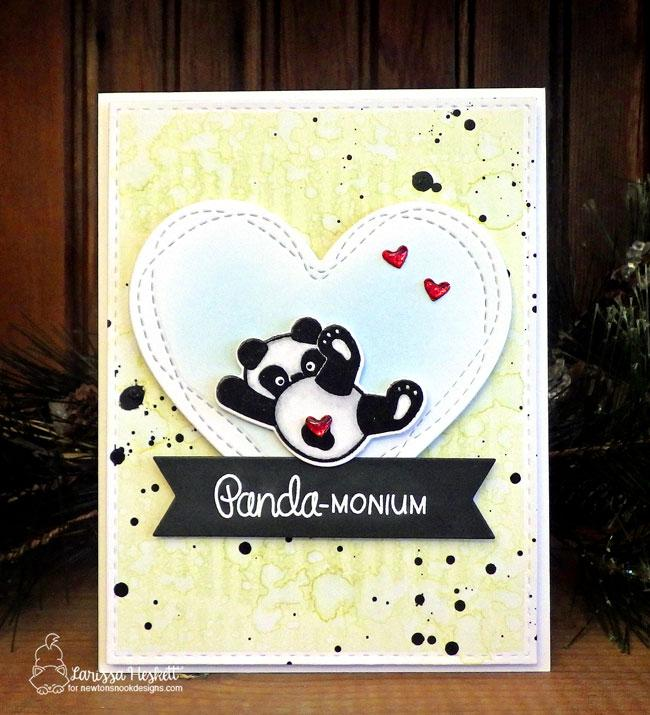 Panda Card by Larissa Hekett | Playful Pandas Stamp Set by Newton's Nook Designs #newtonsnook #handmade