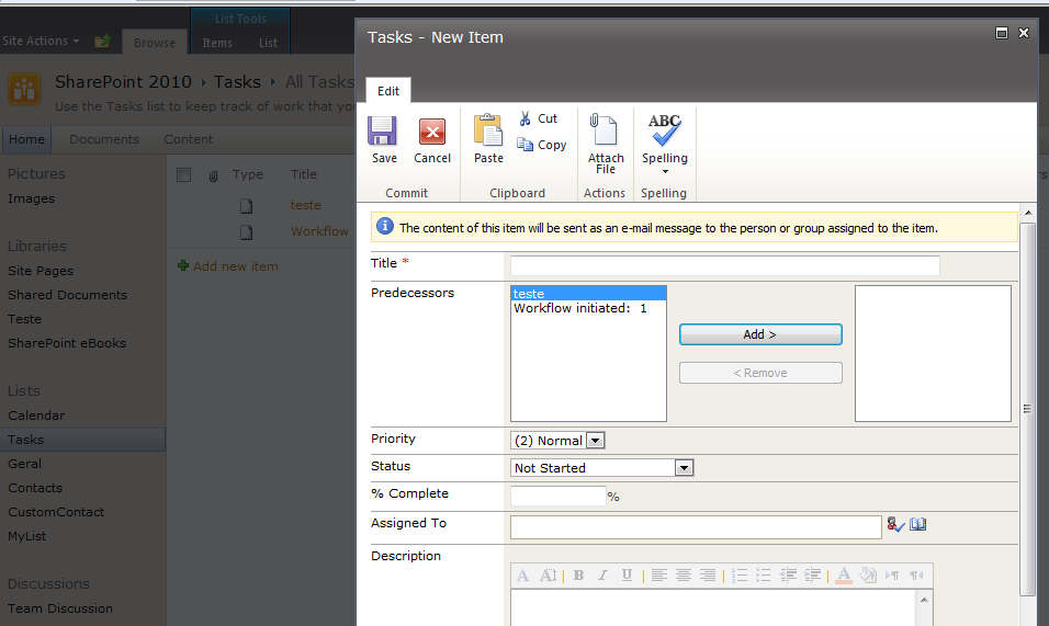 how to create a submission form in sharepoint